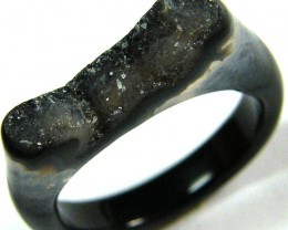 NATURAL   DRUSY AGATE RING  10 SIZE 15.95 CTS [SJ380]