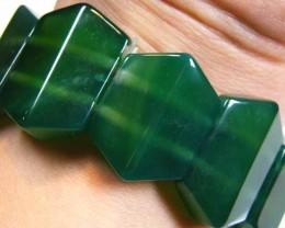 AFGHANISTAN  GREEN JADE BRACELET 312 CTS  ST 50