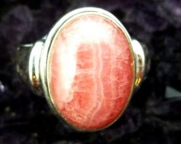 RHODOCHROSITE STYLISH SILVER RING SIZE 8 RT 981