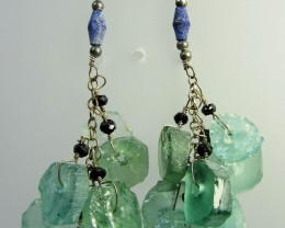 ANCIENT ROMAN GLASS EARRINGS  MJA 206
