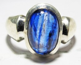 8.5 RING SIZE KYANITE RING -SILVER [SJ4191]