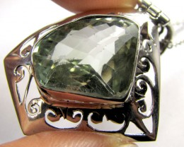LARGE GREEN  AMETHYST PENDANT TCW 36  CTS MYG 1326