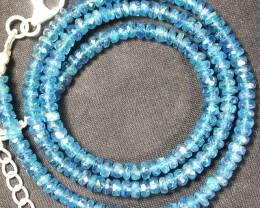 APAITITE NECKLACE -SEA BLUE 59.55 CTS [SJ858]