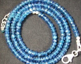 APAITITE NECKLACE -SEA BLUE 58.40 CTS [SJ862]