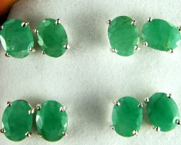 TRADE DEAL 4  SETS JADE  SILVER EARRINGS  MYT 143