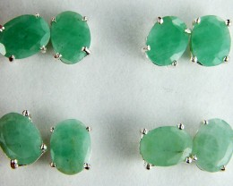 TRADE DEAL 4  SETS JADE  SILVER EARRINGS  MYT 148