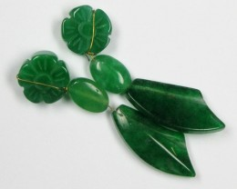 MOHAN DESIGN EARRINGS JADE DROPS  0 669