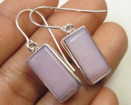 PERUVIAN PINK SILVER EARRINGS     GG 651