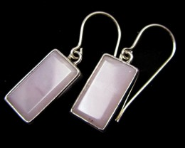 PERUVIAN PINK SILVER EARRINGS     GG 650