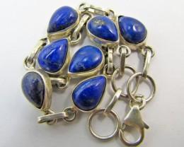 41Cts   lapis lazuli in silver Bracelet    MJA 632