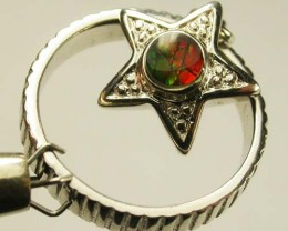 BRIGHT AMMOLITE HANGING  RING 5.5  SIZE 16 CTS [SJ892 ]