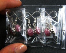 TRADE DEAL 3  RHODOCHROISTE   SILVER EARRINGS  MYT 225