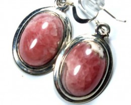 RHODOCHROSITE EARRINGS  29.6 CTS  SJ-11