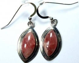 RHODOCHROSITE EARRINGS  29.10 CTS  SJ-13