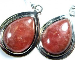 RHODOCHROSITE EARRINGS  37 CTS  SJ-15