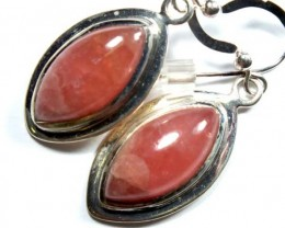 RHODOCHROSITE EARRINGS  26.45 CTS  SJ-16