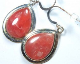 RHODOCHROSITE EARRINGS   40.3 CTS  SJ-19