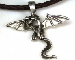 NATURAL PEWTER DRAGON PENDANT RETAIL $19.99  PE 43