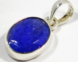 TANZANITE  SILVER PENDANT -FACETED [SJ2956]