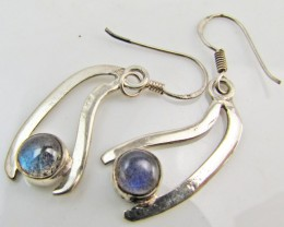 Labradorite in Sheppard  Silver Earrings   10  MJA 980