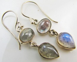 Labradorite in Sheppard  Silver Earrings   10  MJA 982