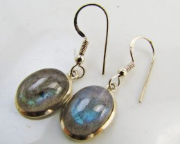 Labradorite in Sheppard  Silver Earrings   10  MJA 983
