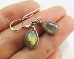 Labradorite in Sheppard  Silver Earrings   10  MJA 984