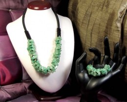 GREEN AVENTURBNE    BRACELET AND NECKLACE MGMG 267