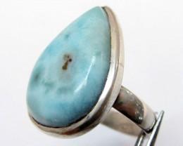 Larimar  Gemstone Ring Size  6  MJA 345