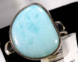 LARIMAR SILVER RING 32 CTS SIZE-6  TBJ-589