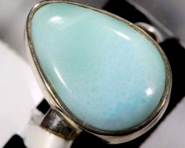 LARIMAR SILVER RING 37 CTS SIZE 7   TBJ-590