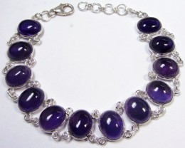 77CTS   AMETHYST NECKLACE 21 cm length   MGMG 551