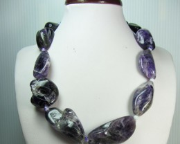 FREE SHIPPING STYLISH METHYST NECKLACE   QT 222