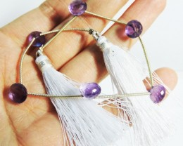 25 Cts Amethyst Strung for necklace  HS1369