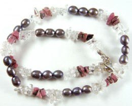 PEARL NECKLACE BRACELET EARRING SET    280CTS GTT 709