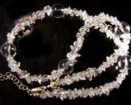 CRYSTAL PEARL NECKLACE BRACELET EARRING SET     GTT 720