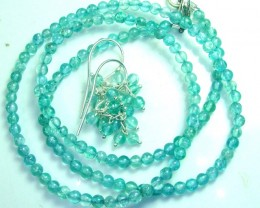 AQUAMARINE NECKLACE AND EARRING SET 44 CTS SG-2213