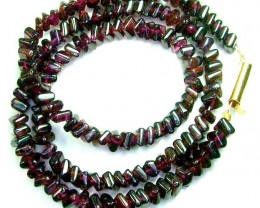 RED GARNET NECKLACE EARRING SET 141  CTS  SG-2207