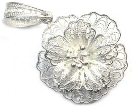 UNIQUE FILIGREE SILVER PENDANT 17.45 CTS [SJ1285]