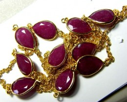 RUBY NECKLACE 82  CTS 10 STONES SG-2068