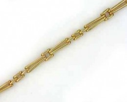 14.2 GRAMS 18K GOLD BRACELET 6 3/4 INCH LONG 14.2 grams GB6