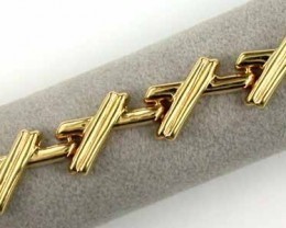 12.6 GRAMS  18K GOLD BRACELET 7 1/2 INCH LONG 12.6 GRAMS GB1