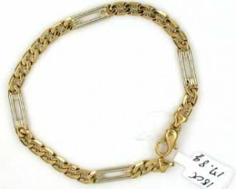17.7 GRAMS  18K GOLD BRACELET 8 INCH LONG 17.70 GRAMS GB2