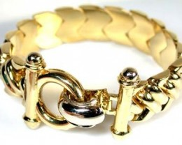 52.4 GRAMS 18K ITALIAN GOLD BRACELET  WITH , 20CM LONG 52.4  GRAMS L386