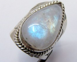 Moonstone Silver ring size 9.5  MJA 347