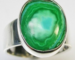 6.5 RING SIZE MALACHITE AZURITE SILVER RING [SJ2278]SH