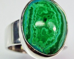 6.5 RING SIZE MALACHITE AZURITE SILVER RING [SJ2281]SH