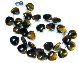 NATURAL TIGER EYE DROP NECKLACE     TR 257