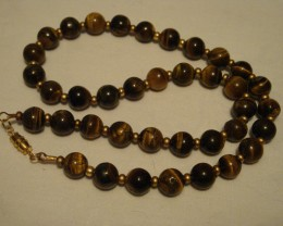 19 INCH TIGER EYE NECKLACE