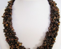 695 CtsNatural   Tiger eye Necklace  MJA 1076
